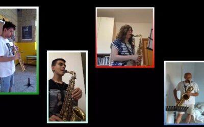 #iosuonodacasa - Lucio Battisti - Un'avventura I esecuzione - arr. per quartetto di sassofoni di Eros Vasconi